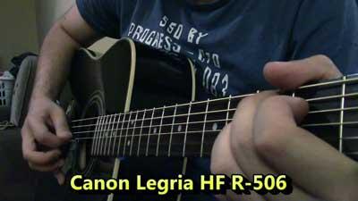 Boss Micro BR-80 vs Canon HF R506 Microphone Comparison