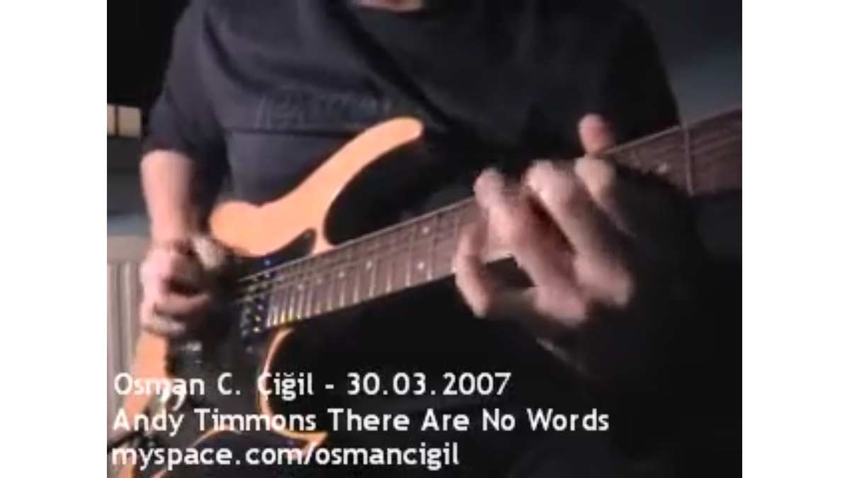 Andy Timmons There Are No Words Guitar Cover
