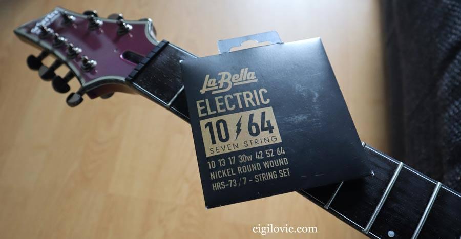 La Bella HRS-73 10-64 7 String Electric Guitar