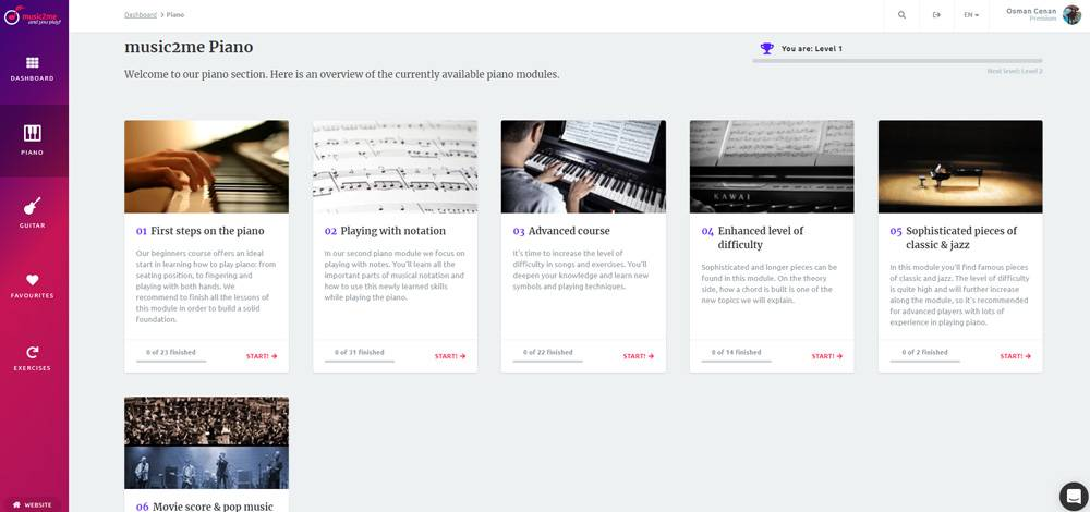 Music2Me Piano Lessons Content!