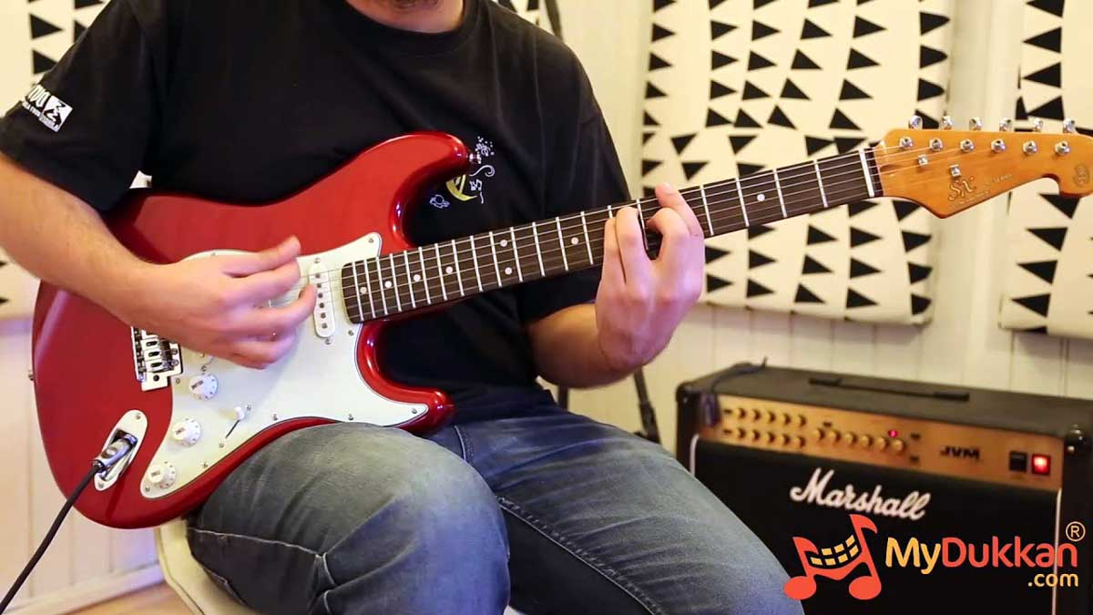 SX SST62 Stratocaster Candy Apple Red